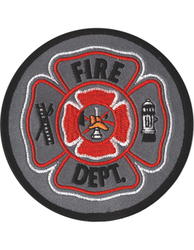 U-N417 Fire Department Shield Patch Gray
