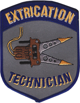 U-N422 Extrication Technician Shield Patch Gray