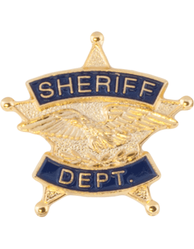 Tie Tac (U-T101G) Sheriff Department Gold with Black Enamel