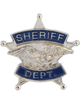 Tie Tac (U-T101S) Sheriff Department Silver with Blue Enamel (6 Point)