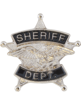 Tie Tac (U-T101S) Sheriff Department Silver with Black Enamel
