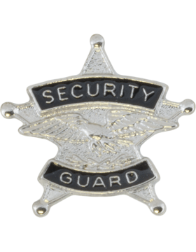 Tie Tac (U-T102S) Security Guard Silver
