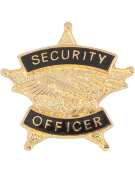 Tie Tac (U-T103G) Security Officer Gold