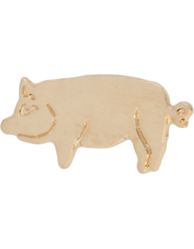 Tie Tac (U-T104G) Pig Solid Piece Gold