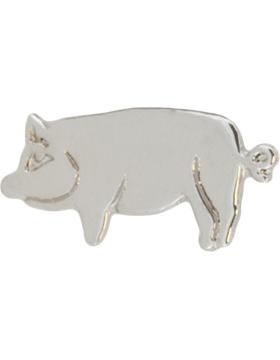 Tie Tac (U-T104S) Pig Solid Piece Silver