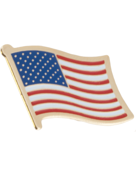 Tie Tac (U-T108G) American Flag Gold