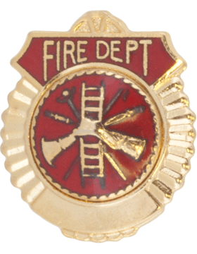 Tie Tac (U-T111G) Fire Department Gold