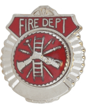 Tie Tac (U-T111S) Fire Department Silver