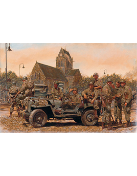 WWII Unframed Canvas Print At The Crossroads