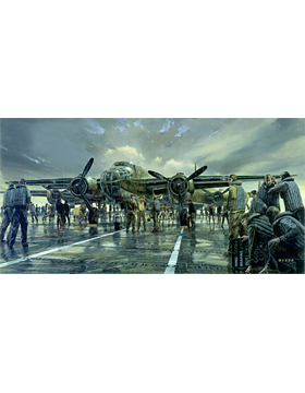 WWII Unframed Canvas Print Early Launch