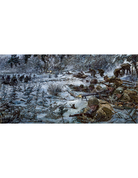 WWII Unframed Canvas Print Hold Fast