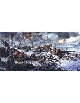 WWII Unframed Canvas Print Hold to the Last Round