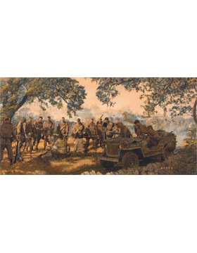 WWII Unframed Canvas Print Home from the Hill