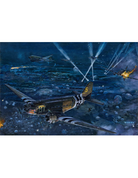 WWII Unframed Canvas Print On the Night Before