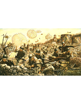 WWII Unframed Canvas Print On the Rock