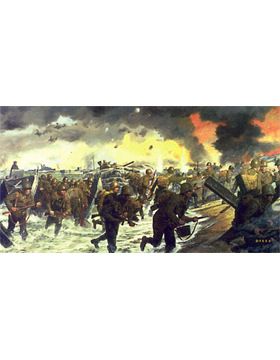 WWII Unframed Canvas Print Overlord