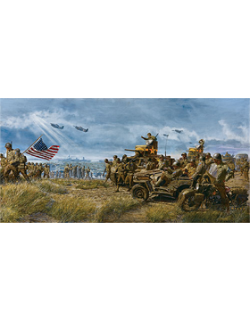 WWII Unframed Canvas Print Play Ball