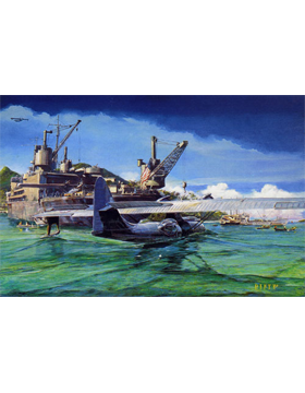 WWII Unframed Canvas Print Safe Harbor