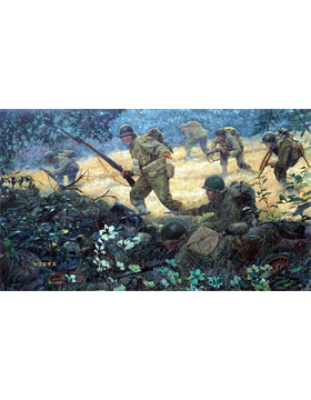 WWII Unframed Canvas Print Spearhead of the Attack
