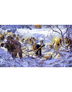 WWII Unframed Canvas Print Stopped Cold
