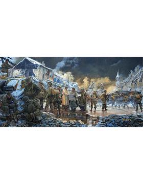 WWII Unframed Canvas Print Strategy at Noville