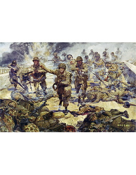 WWII Unframed Canvas Print Strike Attack