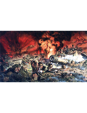 WWII Unframed Canvas Print Though I Be The Lone Survivor
