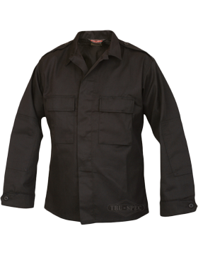BDU Coat Black 2-Pocket 60 Ctn/40 Poly 1417004