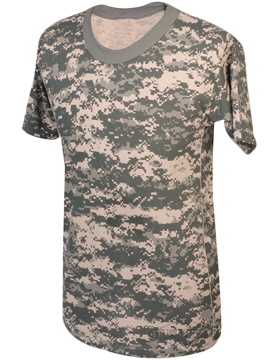 Camo S/S T-Shirt Poly/Cotton 4379