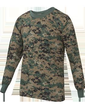 Camo L/S T-Shirt Poly/Cotton 4382