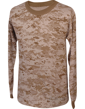 Camo L/S T-Shirt Poly/Cotton 4383