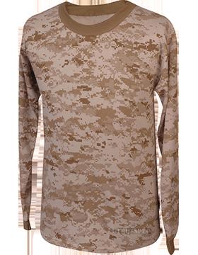 Camo L/S T-Shirt Poly-Cotton 4383