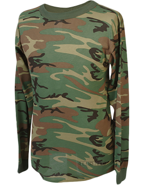 Camo L/S T-Shirt Poly/Cotton 4384