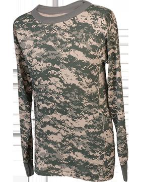 Camo L/S T-Shirt Poly-Cotton 4385
