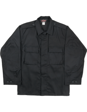 BDU Coat (Shirt) Black 2-Pocket 60/40 F5452