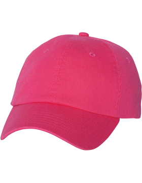 Adult Bio-Washed Unstructured Cap VC300A Neon Pink