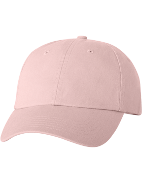 Adult Bio-Washed Unstructured Cap VC300A Light Pink