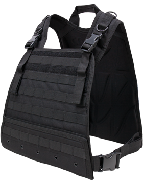 Compact Plate Carrier Black M-XL Adjustable CPC small