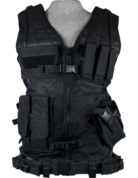 Cross Draw Vest Black XL-XXL Adjustable CV