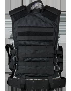 Elite Tactical Vest And Pistol Belt Black M-XL Adjustable ETV small