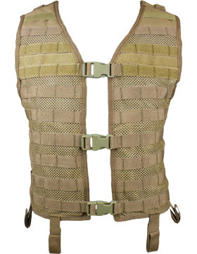Mesh Hydration Vest Tan M-XL Adjustable MHV