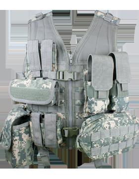 Molle Complete Modular Vest 8 Pouches ACU M-XL Adjustable MVP
