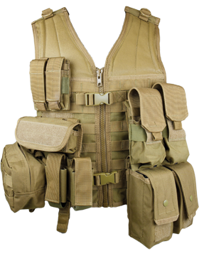 Molle Complete Modular Vest 8 Pouches Tan M-XL Adjustable MVP