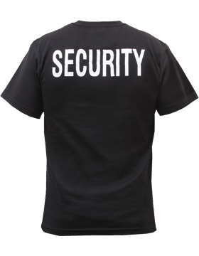 Security T-Shirt Two Sided Size 4XL 6684 small