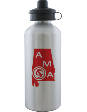 Water Bottle, Aluminum, Alabama Military Academy