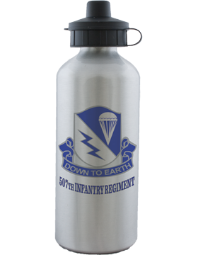 Water Bottle, Aluminum, 507th Infantry Regiment Crest
