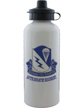Water Bottle, White, 507th Infantry Regiment Crest
