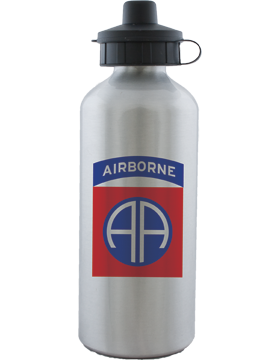 Water Bottle, Aluminum, 82nd Airborne Patch with Tab