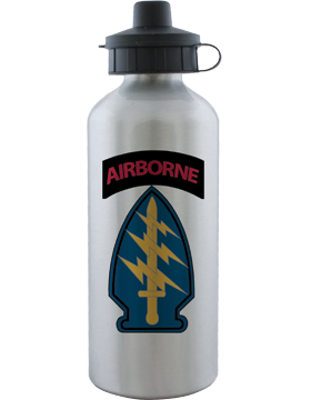 Water Bottle, Aluminum, Special Forces with Airborne Tab