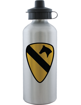 Water Bottle, Aluminum, 1st Cavalry Patch